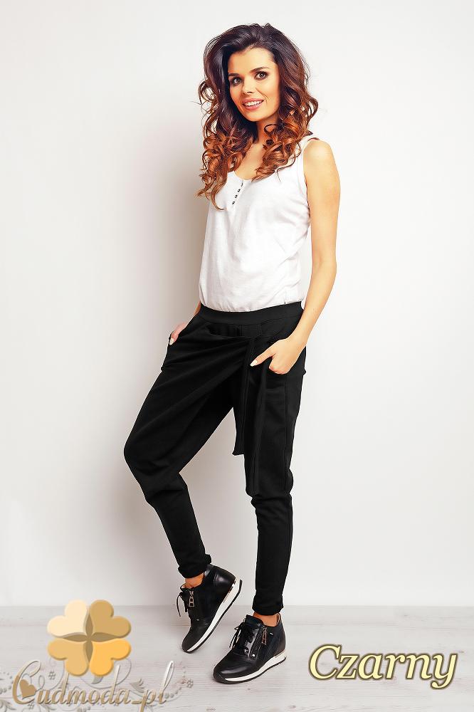 CM2388 Bawełniane sportowe spodnie - czarne