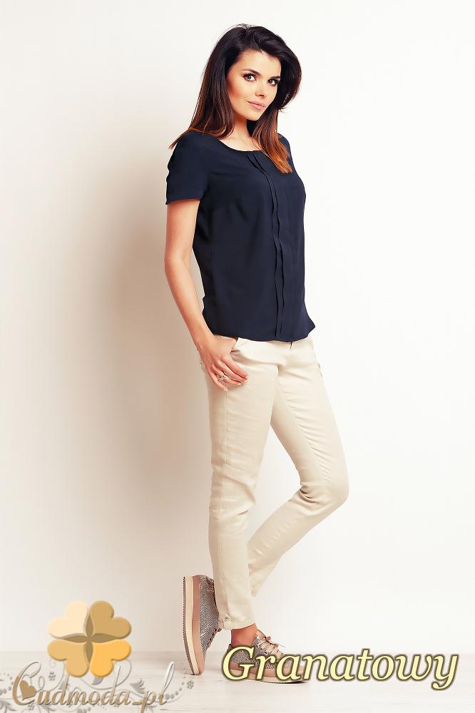 CM2394 Zwiewna elegancka bluzka damska - granatowa
