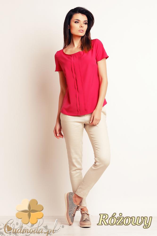 CM2394 Zwiewna elegancka bluzka damska - różowa
