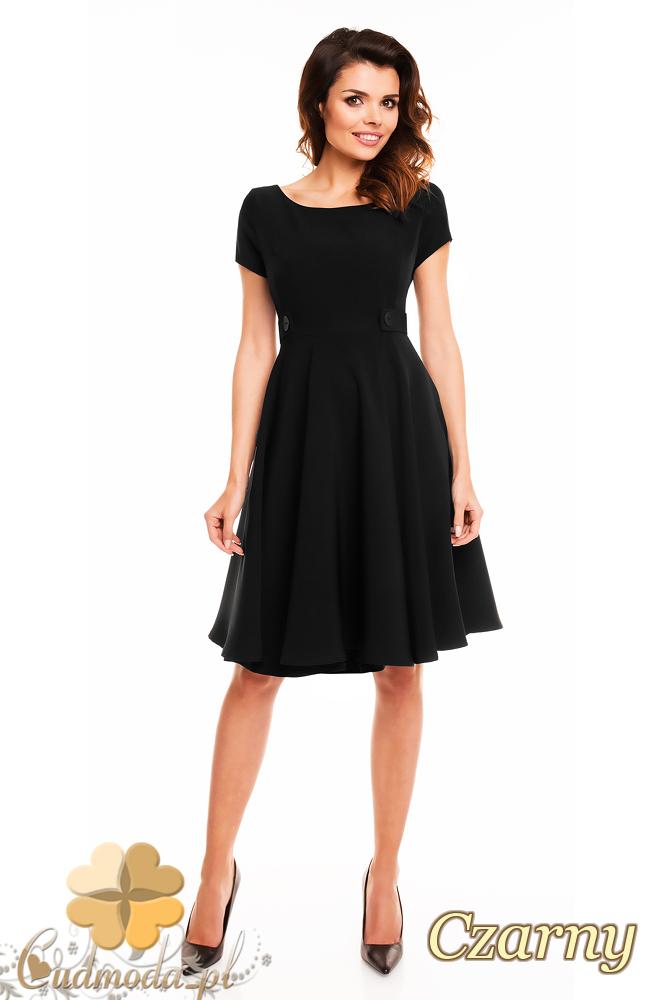 CM2404 Koktajlowa sukienka wieczorowa - czarna