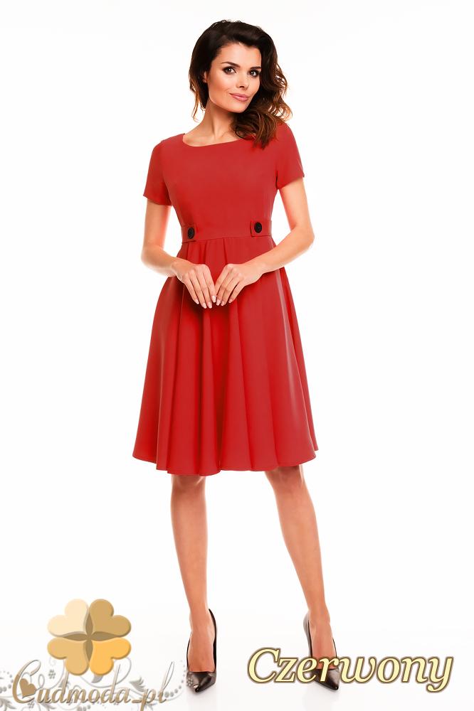 CM2404 Koktajlowa sukienka wieczorowa - czerwona