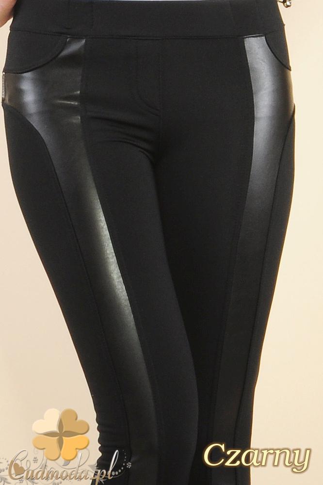CM0182 Ściągające legginsy ze skórą ekologiczną