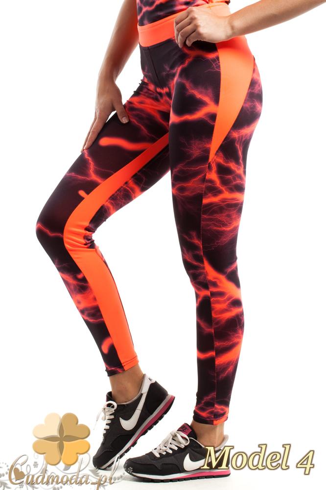 CM2189 Wyjątkowe sportowe legginsy modny wzór