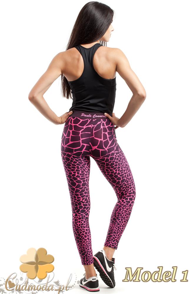 CM2426 Szykowne legginsy sportowe w deseń - model 1