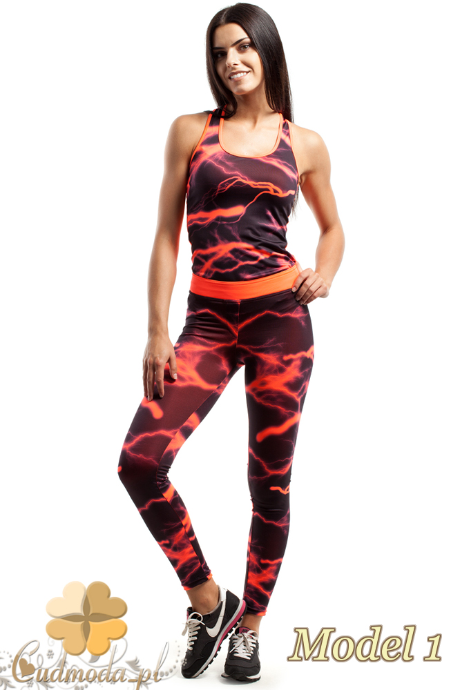CM2428 Wyjątkowe legginsy fitness we wzory