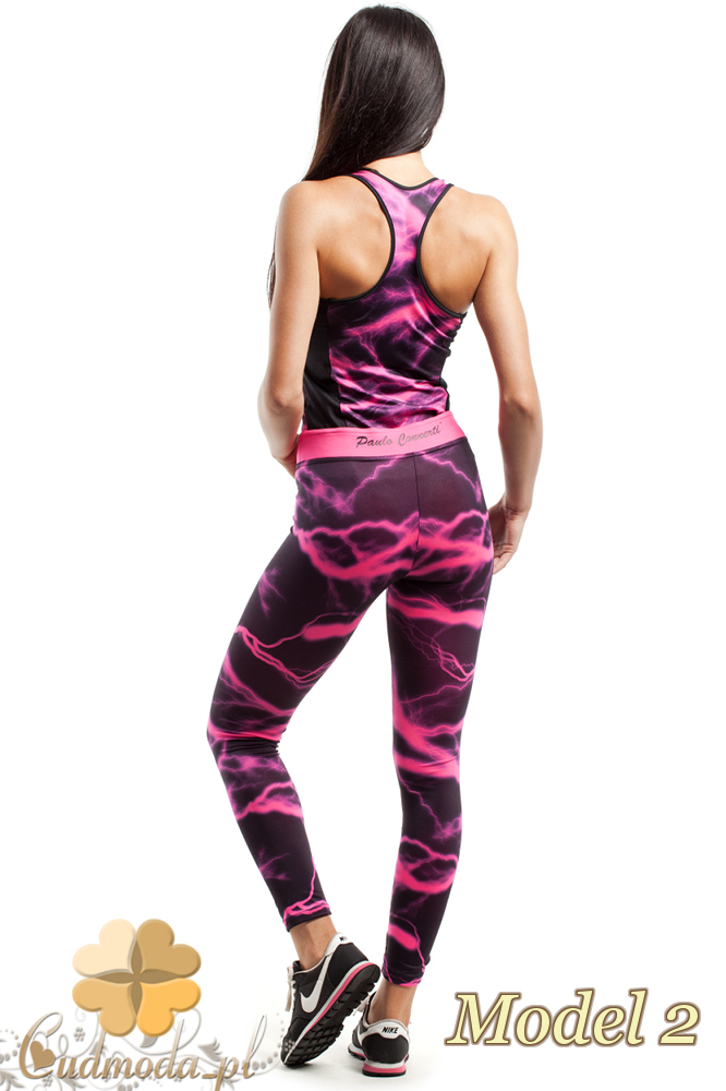 CM2428 Wyjątkowe legginsy fitness we wzór
