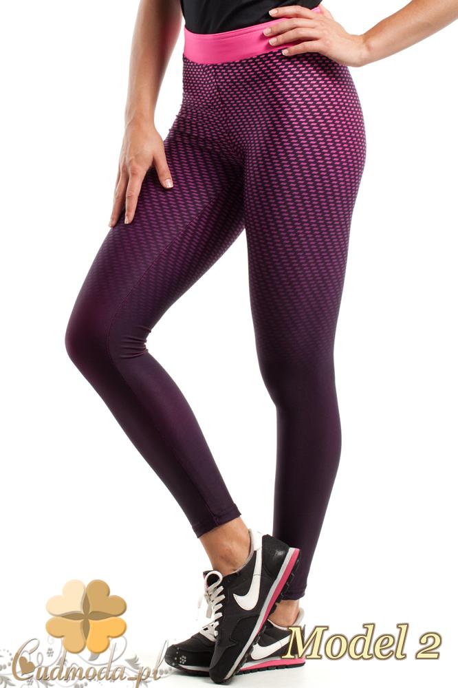 CM2429 Wyszczuplające elastyczne legginsy fitness - model 2
