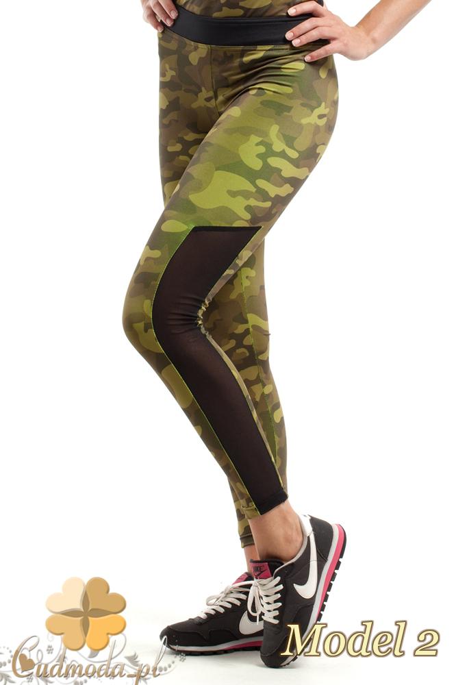 CM2430 Sportowe legginsy FIT z wstawką na łydce