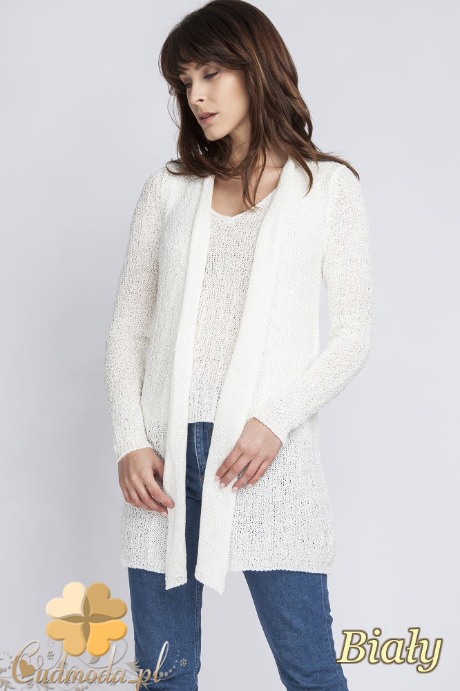 CM2439 Komplet - kardigan + bluzka - biały