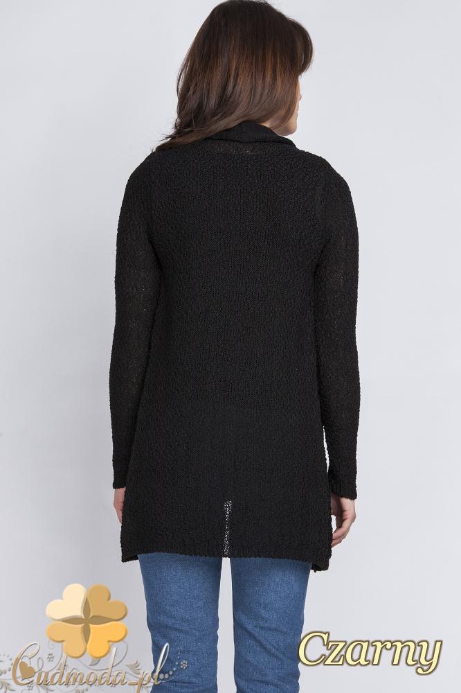CM2439 Komplet - kardigan + bluzka - czarny