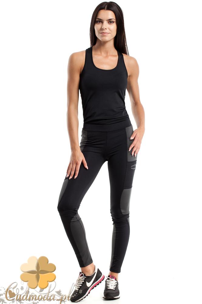 CM2604 Sportowe legginsy z przeszyciami - czarne