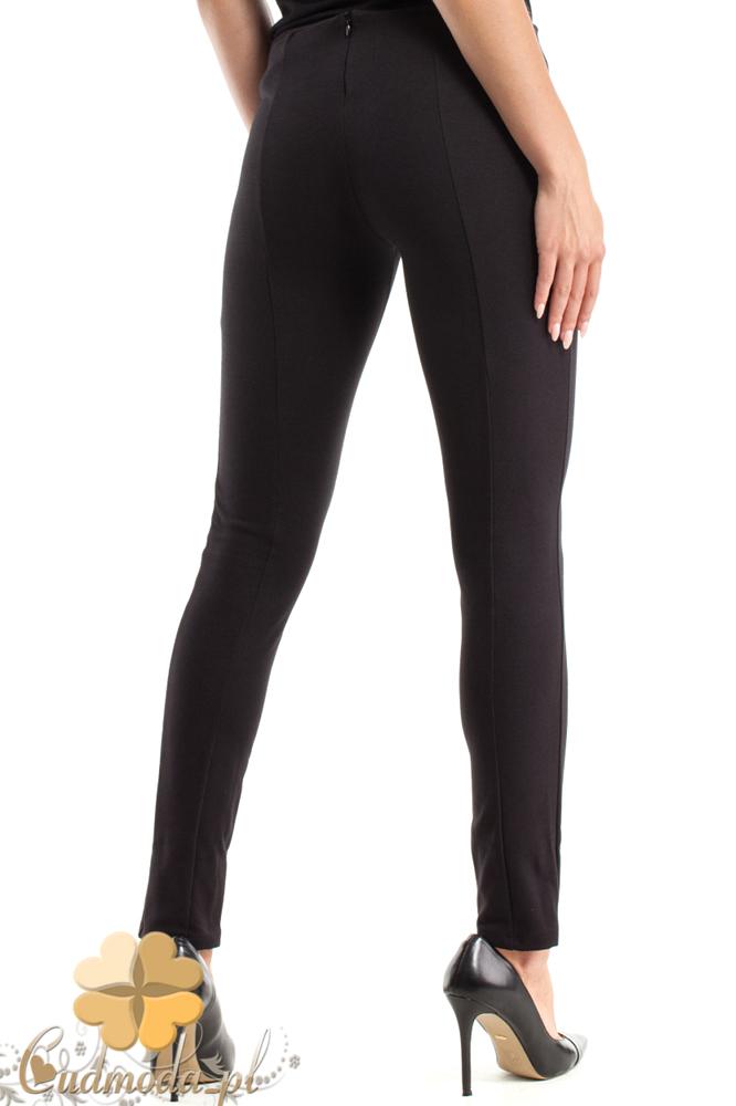 CM2481 Dopasowane legginsy z pasem - czarne