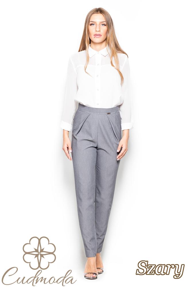 CM2518 Biurowe spodnie rurki - szare