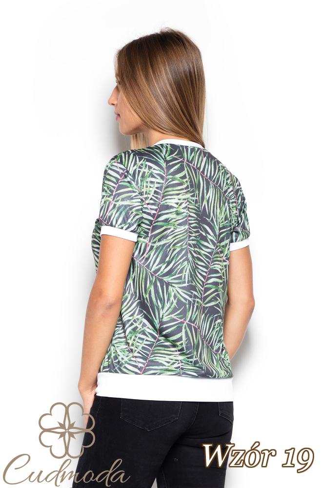CM2522 Elastyczna bluzka we wzory - wzór 19