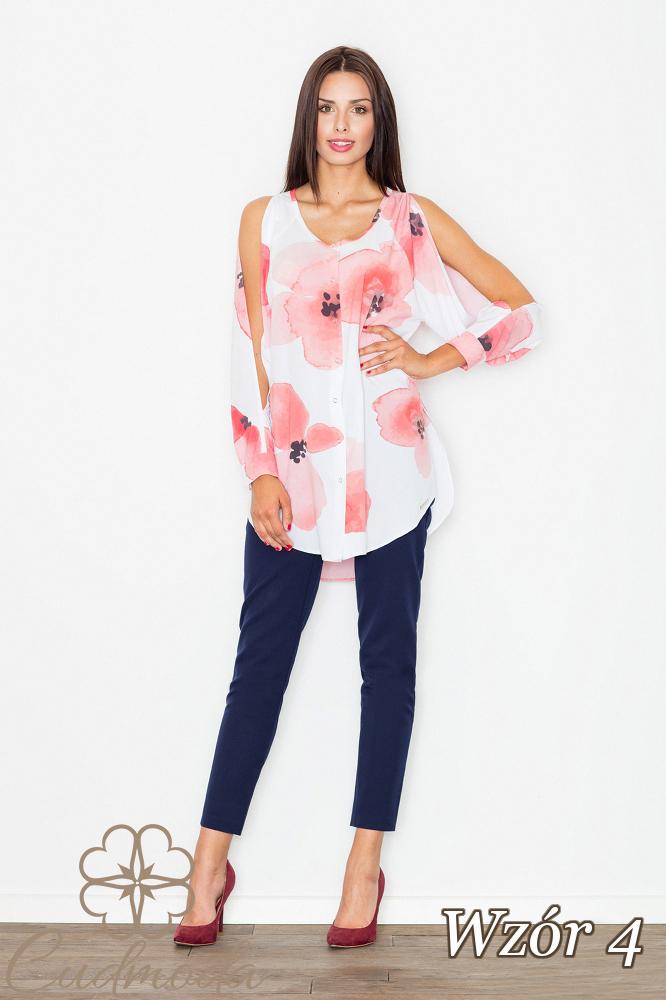 CM2538 Zwiewna koszula z nowoczesnym rękawem - wzór 4