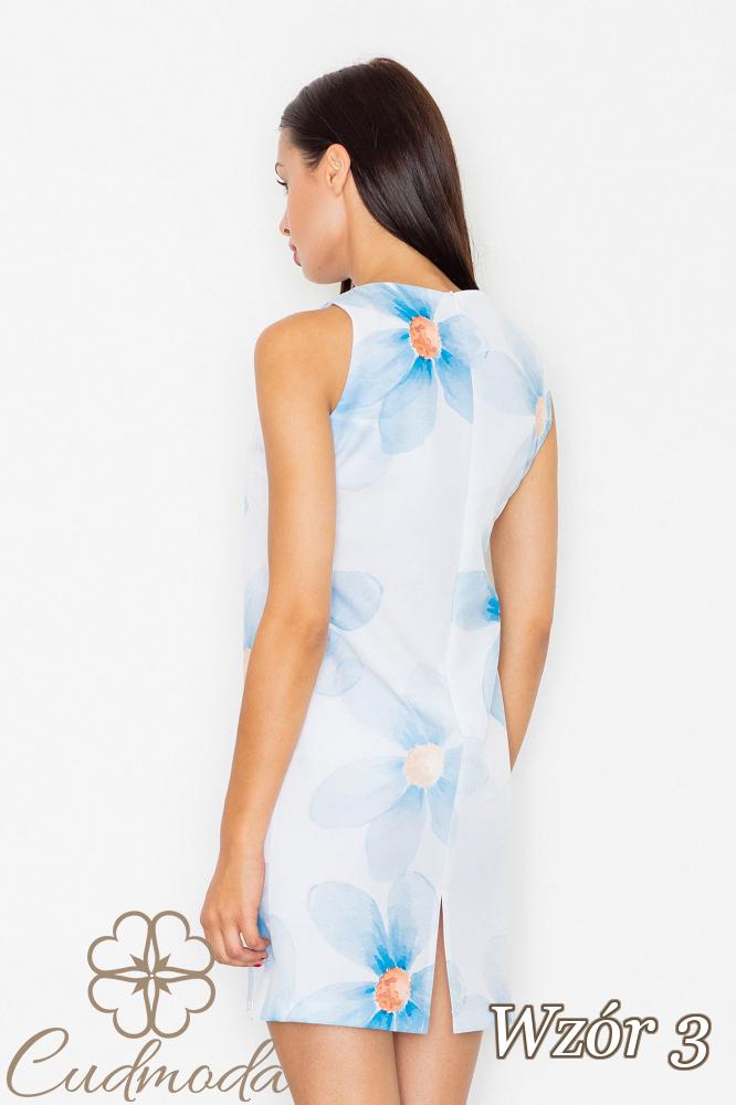 CM2540 Dopasowana sukienka mini na ramiączkach - wzór 3