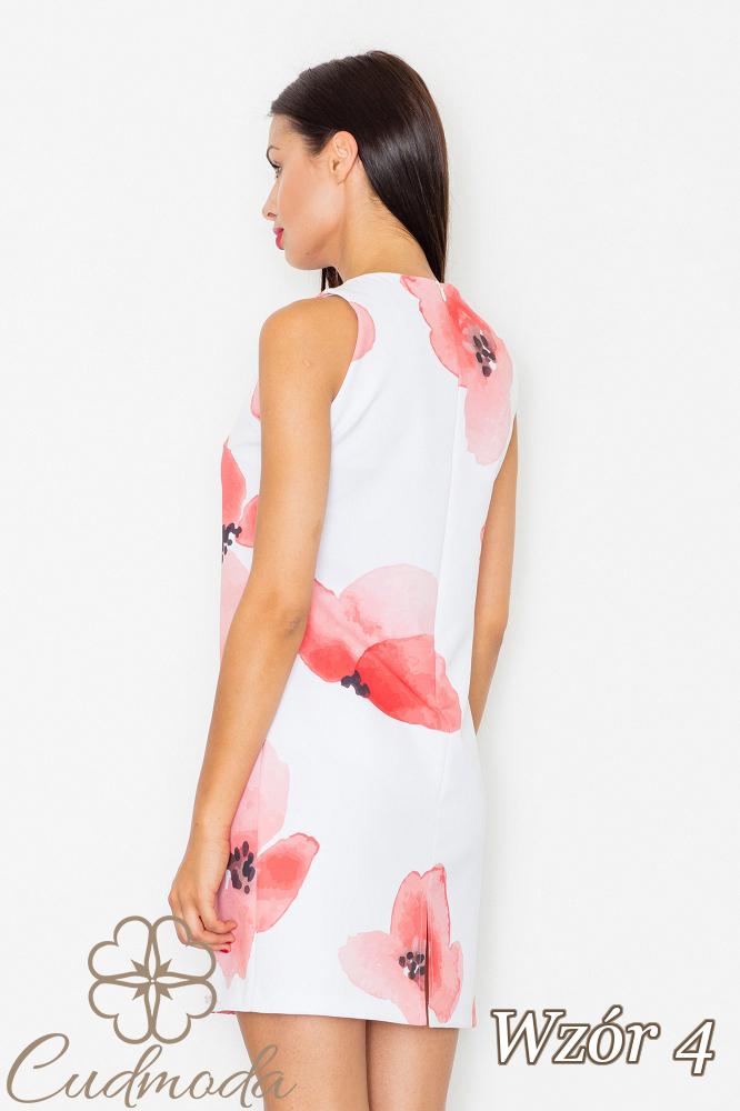 CM2540 Dopasowana sukienka mini na ramiączkach - wzór 4