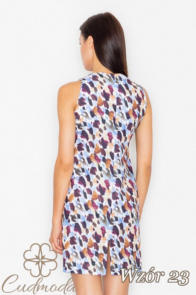 CM2540 Dopasowana sukienka mini na ramiączkach - wzór 23