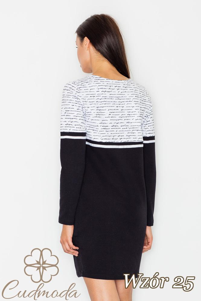 CM2550 Bawełniana sukienka ołówkowa - wzór 25