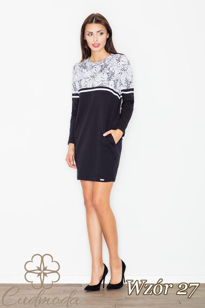 CM2550 Bawełniana sukienka ołówkowa - wzór 27