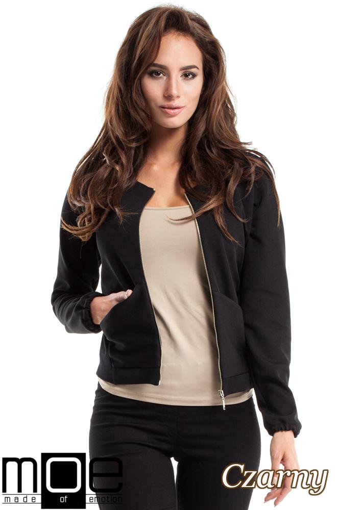 CM2566 Elegancka zasuwana bluza damska - czarna