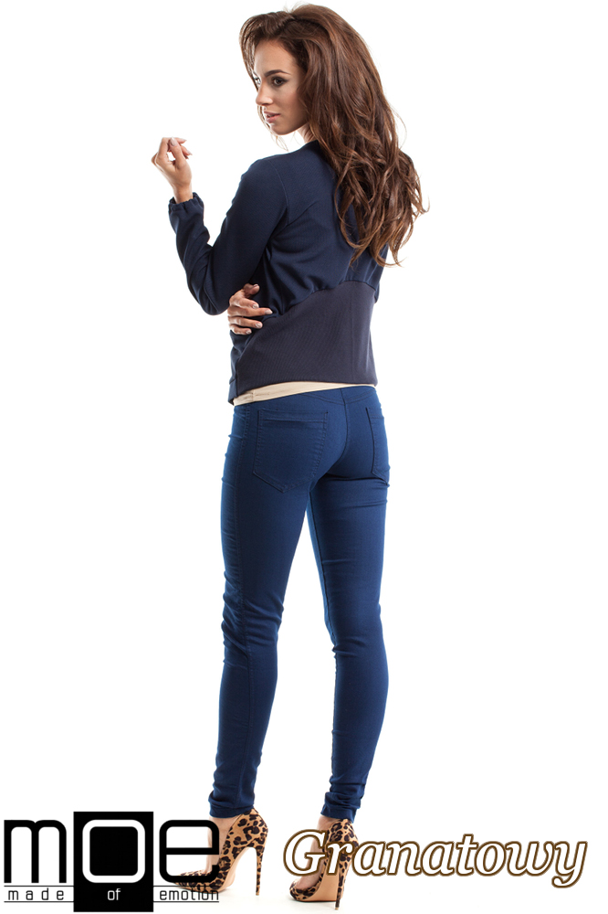 CM2566 Elegancka zasuwana bluza damska - granatowa