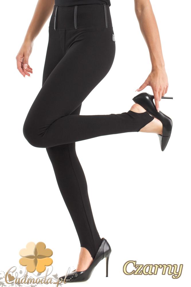 CM2465 Eleganckie dopasowane gładkie legginsy - czarne