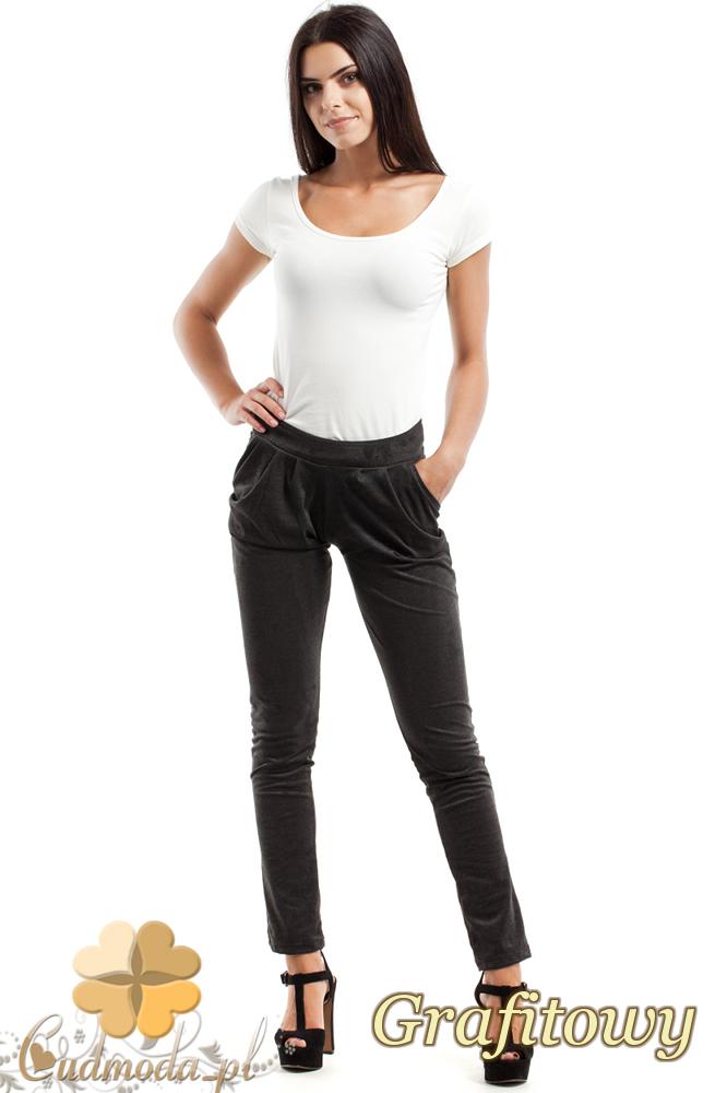 CM2470 Sportowe spodnie rurki - grafitowe