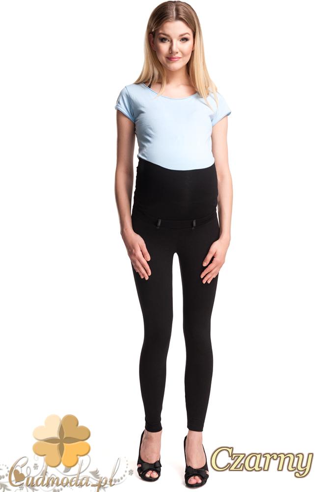 CM2480 Ciążowe legginsy z zamkami na łydce - czarne