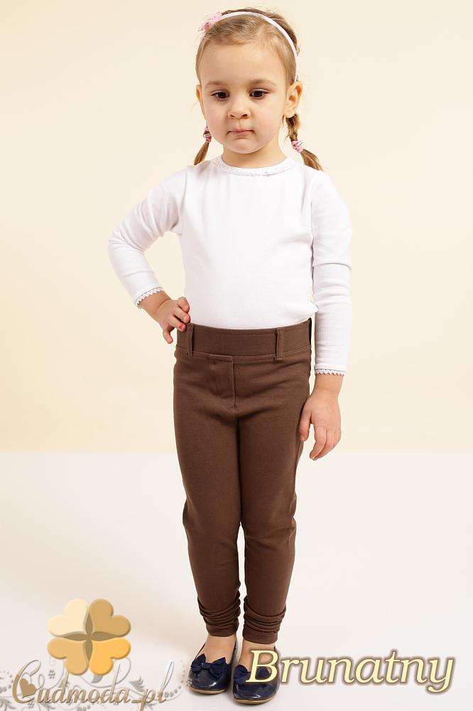 CM0084 Włoskie dziecięce leginsy z kieszeniami - brunatne