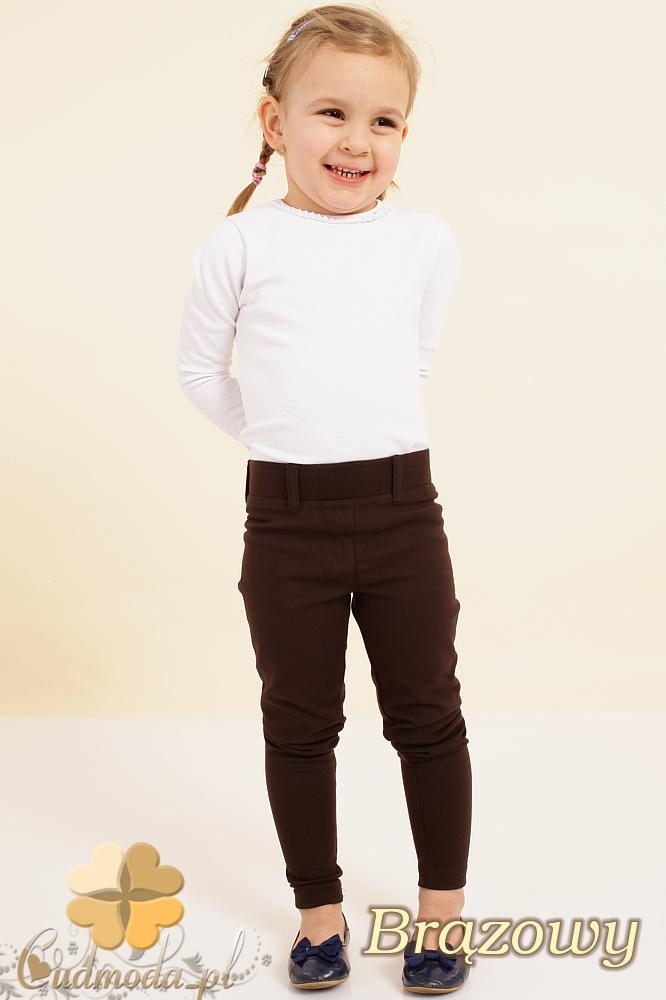 CM0084 Włoskie dziecięce leginsy z kieszeniami - brązowe