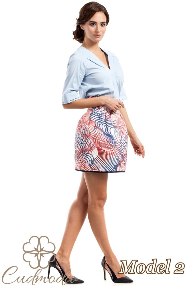 CM2726 Spódniczka tulipan w modne wzory - model 2