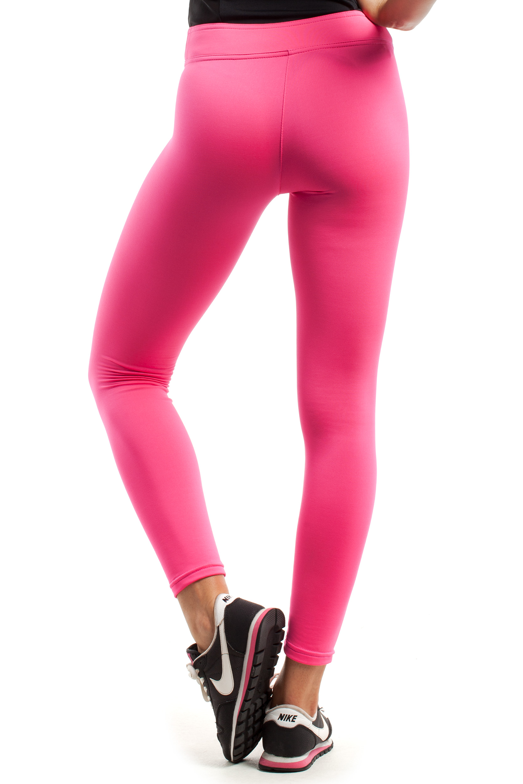 CM1839 Gładkie legginsy - różowe