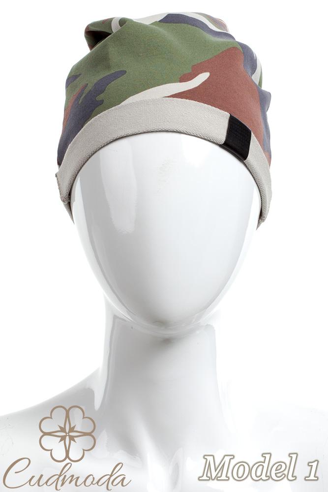 CM2075 Lekka bawełniana czapka zimowa -moro - model 1