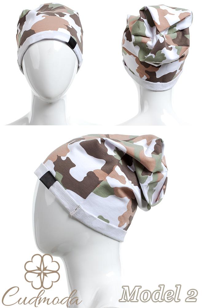CM2075 Lekka bawełniana czapka zimowa -moro - model 2