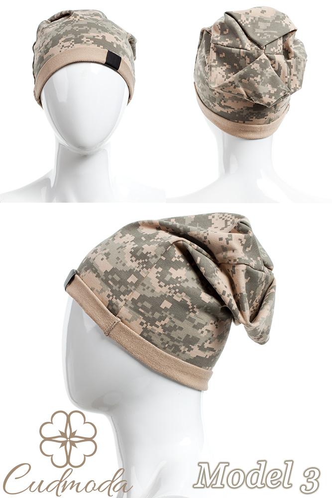 CM2075 Lekka bawełniana czapka zimowa -moro - model 3