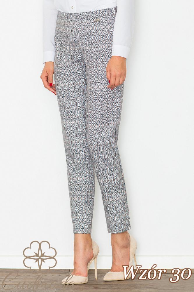 CM2708 Klasyczne spodnie we wzory - wzór 30