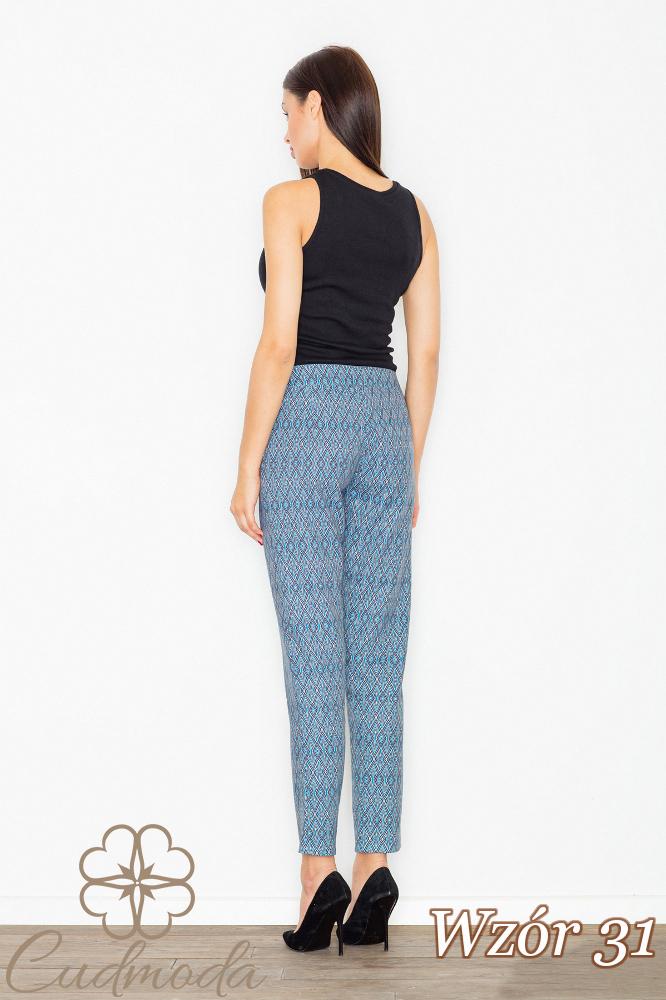 CM2708 Klasyczne spodnie we wzory - wzór 31