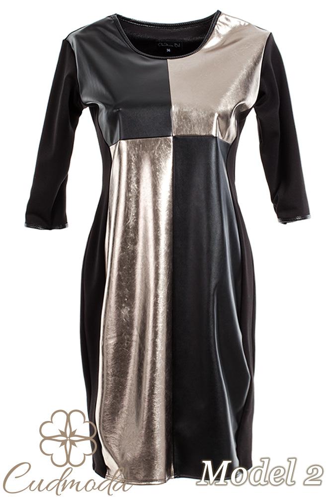 CM2709 Ołówkowa sukienka z motywem - model 2