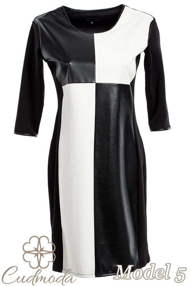 CM2709 Ołówkowa sukienka z motywem - model 5
