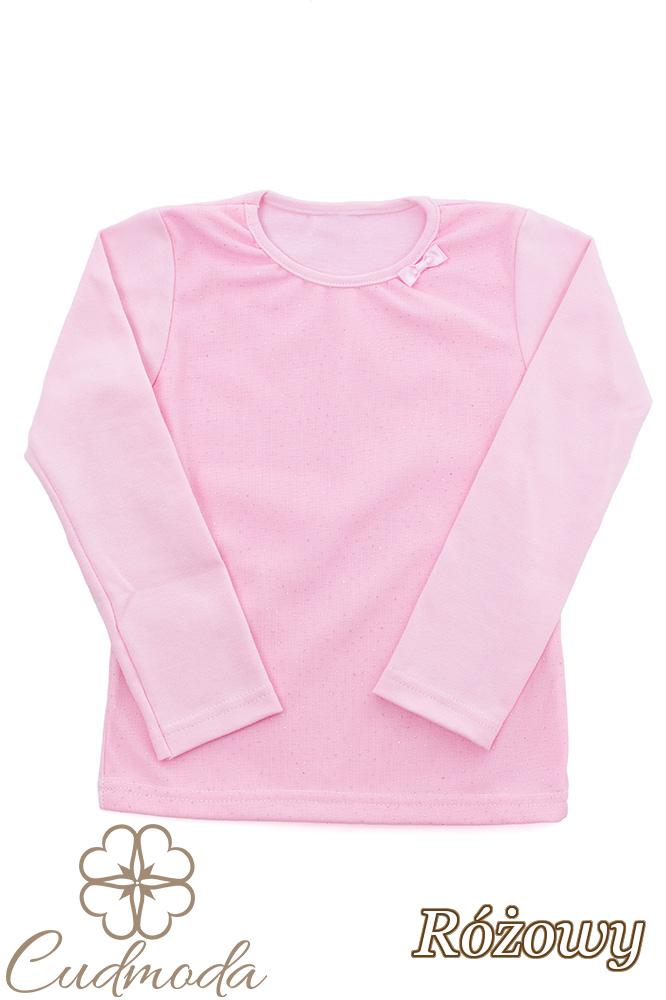 MA108 Bluzeczka dziecięca z cekinami i kokardką - różowa