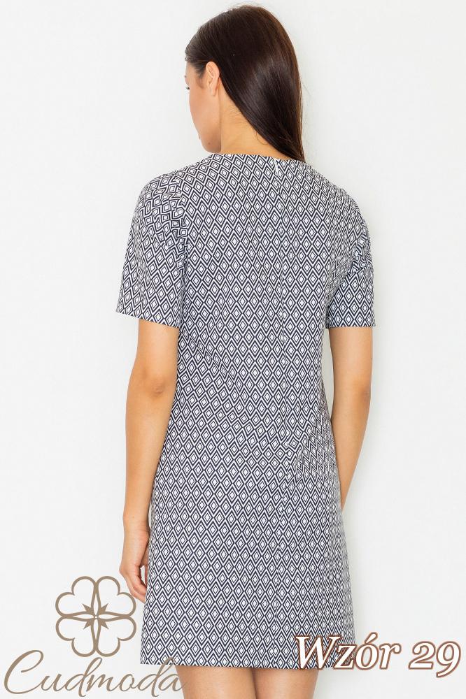 CM2734 Klasyczna sukienka przed kolano - wzór 29