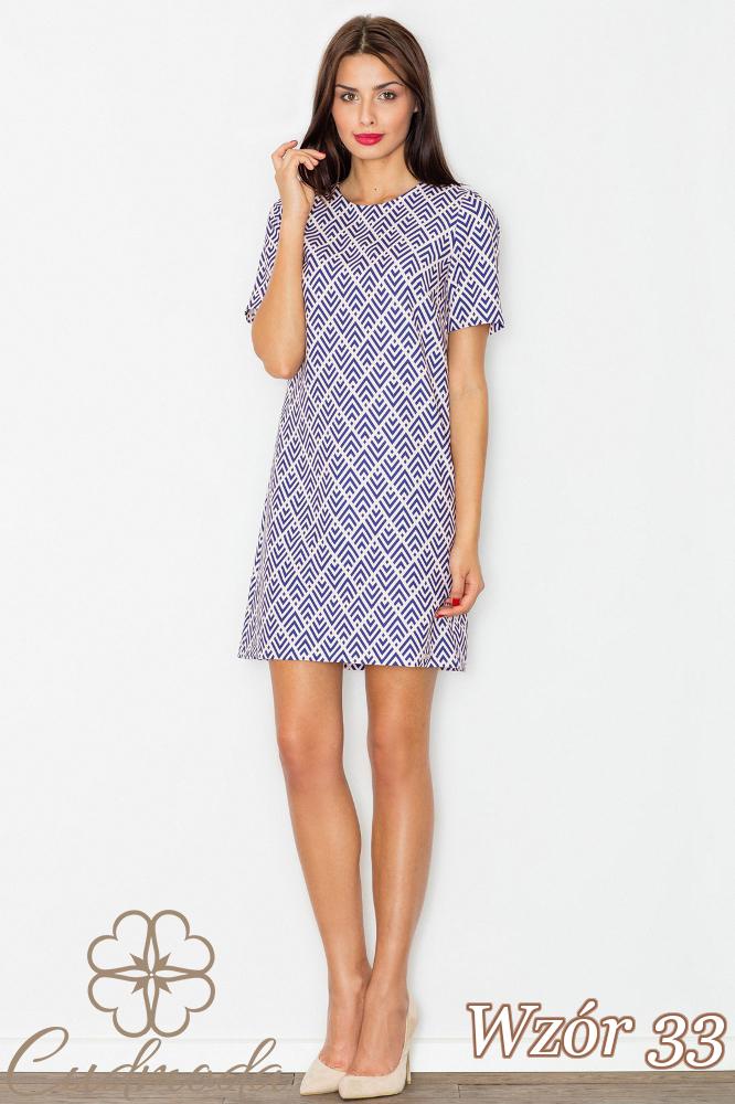 CM2734 Klasyczna sukienka przed kolano - wzór 33