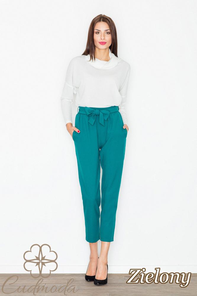 CM2738 Eleganckie spodnie długości 7/8 - zielone