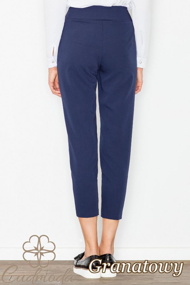 CM2742 Modne eleganckie spodnie damskie - granatowe