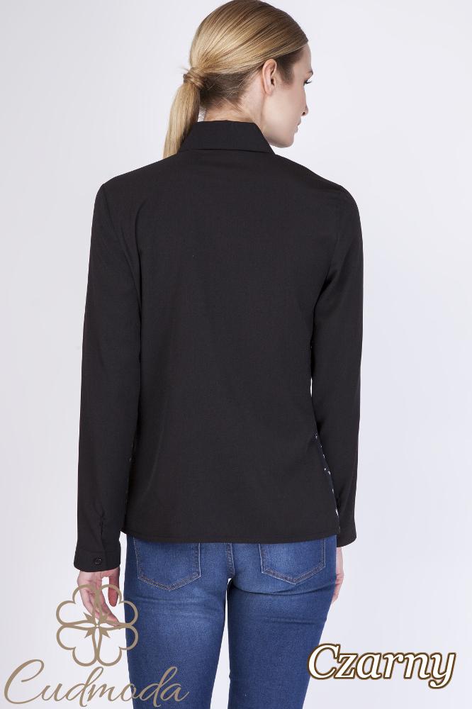 CM2759 Koszula damska z długim rękawem - czarna