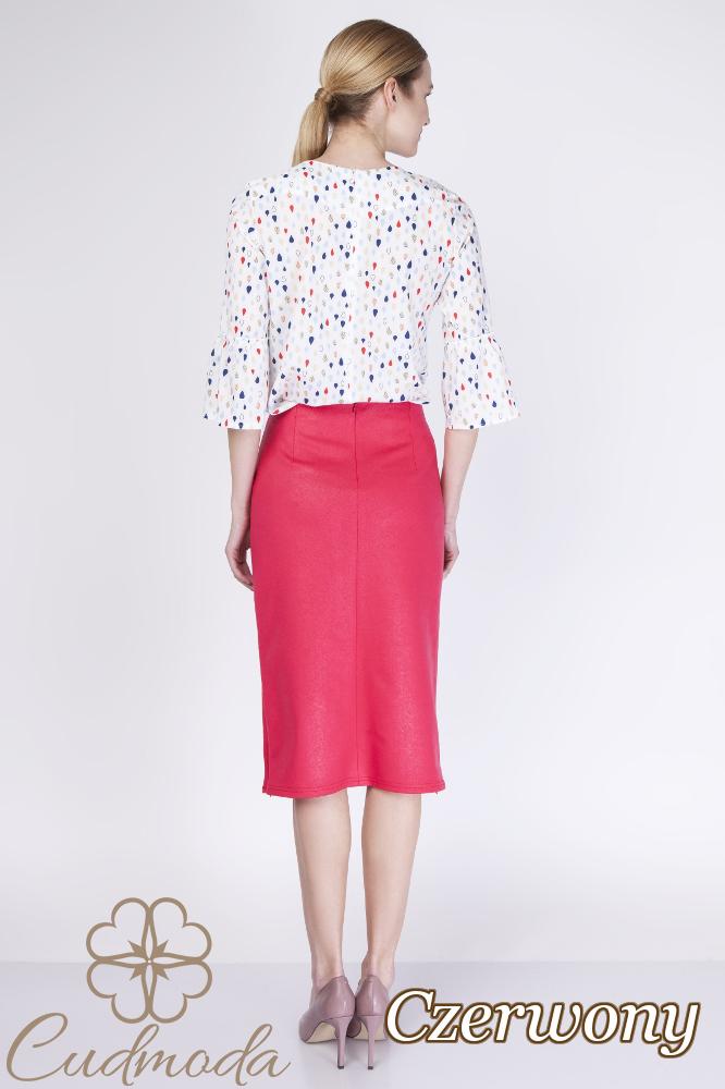 CM2760 Ołówkowa spódniczka midi - czerwona
