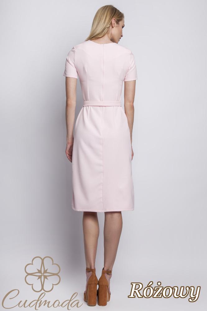 CM2765 Kobieca sukienka tulipan - różowa