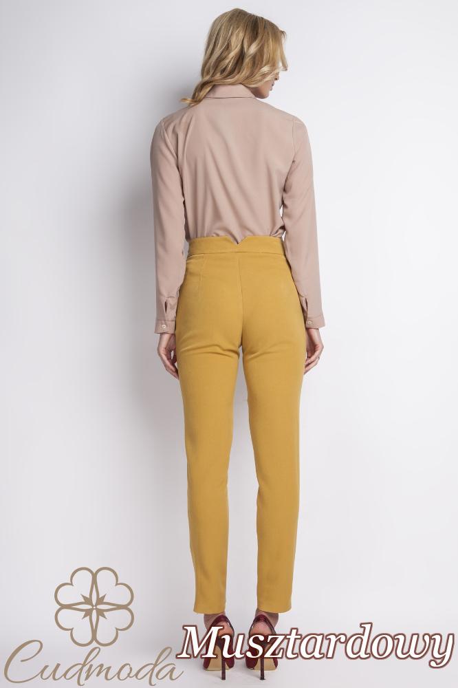 CM2776 Klasyczne spodnie biurowe - musztardowe