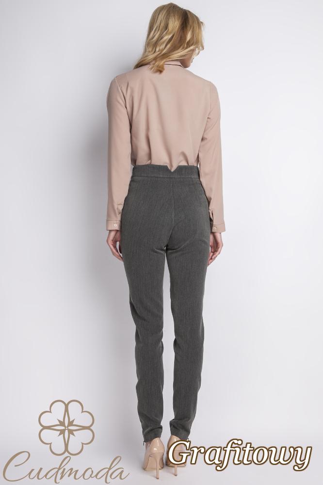 CM2776 Klasyczne spodnie biurowe - grafitowe